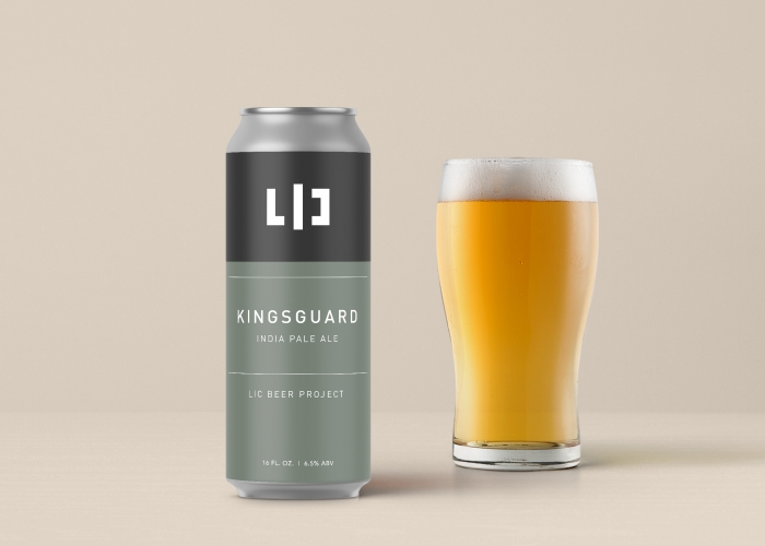 LIC Beer Project can label design by Ryan Paonessa