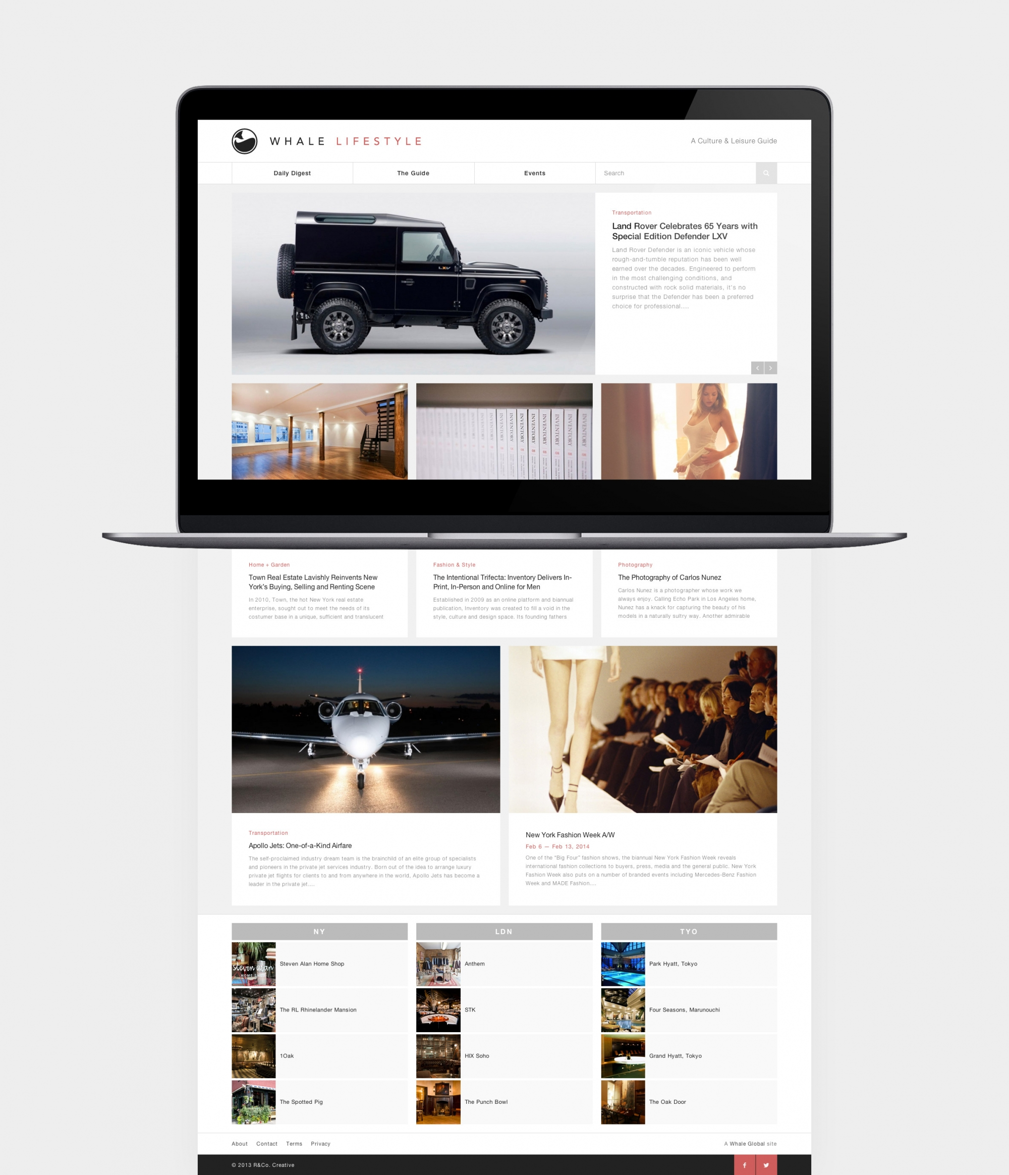 Whale Lifestyle v.1 responsive web design by Ryan Paonessa
